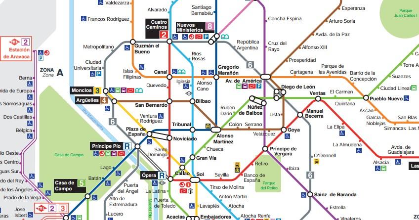 Lineas Mapa De Metro Madrid.Mapa Metro Madrid 2017 Plano Actualizado