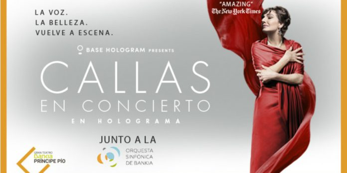 Concierto en holograma de María Callas en Madrid