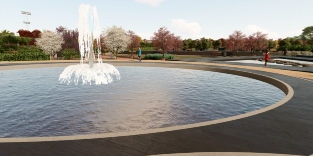 Fuente parque Santander