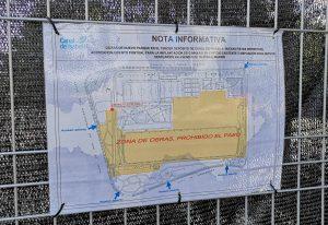Plano accesos parque Santander