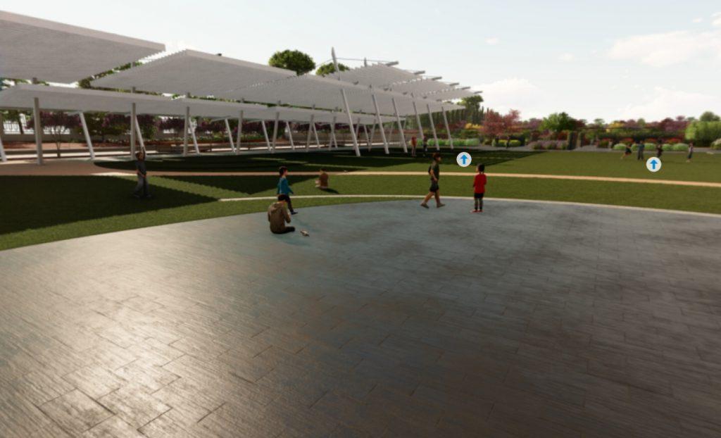 Plaza multiusos Parque Santander